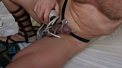 Crossdresser, Sandals, Insertion, Crossdresser bondage