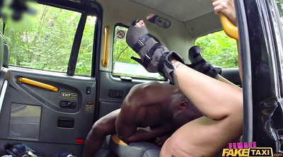 Car, Fake taxi, Ebony riding, Stallion