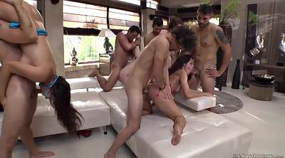 Hairy anal, Anal orgy