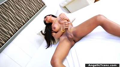 Stunning, Jerk off cum, Asian solo, Asian shemale solo