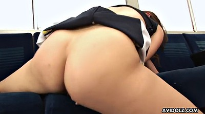 Subway, Japanese busty, Japanese solo, Train masturbation, Cheerleaders