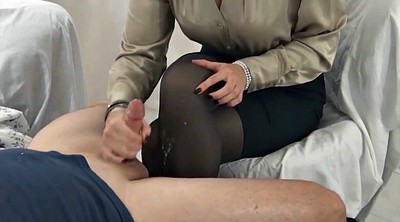 Pantyhose, Nylon feet, Nylon handjob, Gay feet, Cum on feet, Pantyhose feet