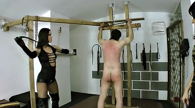 Latex, Whipping, Two slave, Femdom whipping, Femdom whip