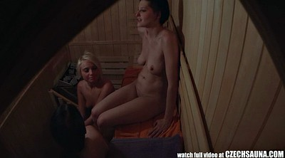 Smoking, Sauna, Czech public, Spy, Czech girl