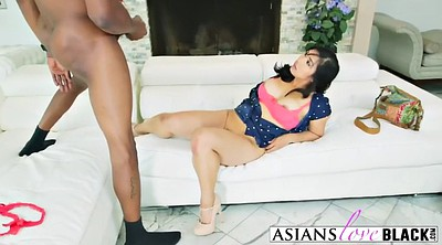 Asian black, Massive cock, Asian interracial