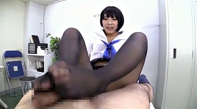 Foot job, Black foot, Job, Asian nylon