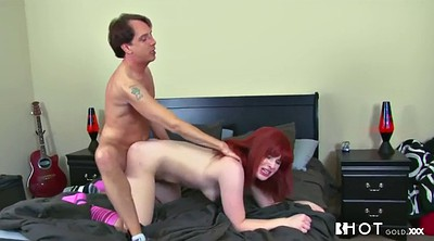Ginger, Spank ass, Hairy anal, Hairy cunt, Anal lick