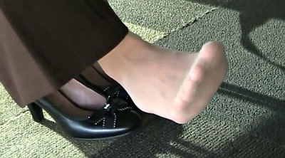 College, Nylon feet, Candid, Nylon foot, Library, Feet nylon