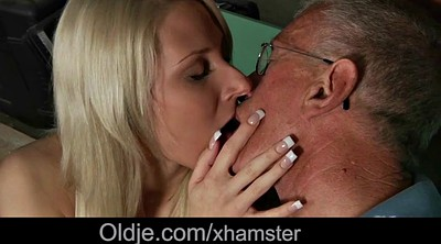 Shy, Granny handjob, Affair, Young blowjob, Kissing handjob, Girls kissing