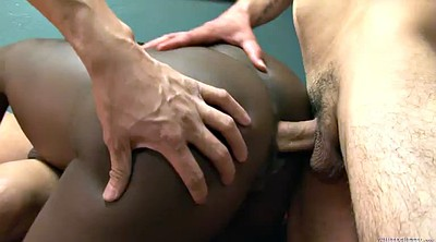 Interracial gangbang, Close, Bed sex, Ebony gangbang