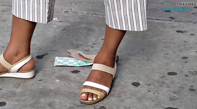 Bus, Candid, Candid feet, Ebony feet, At