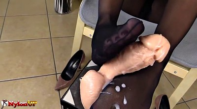 Footjob, Mistress t, Pantyhose footjob, Foot mistress, Pantyhose feet