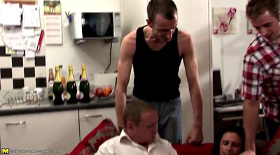 Mom gangbang, Mom boy, Peeing, Mature group, Young mom, Granny group