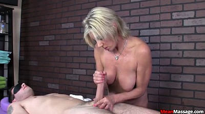 Femdom handjob, Blindfold, Granny massage, Mature massage, Blindfolded