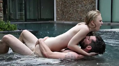 Missionary, Lily rader, Cowgirl, Pool fuck