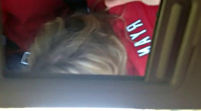 Barby, Amateur pov, Road, Giving head