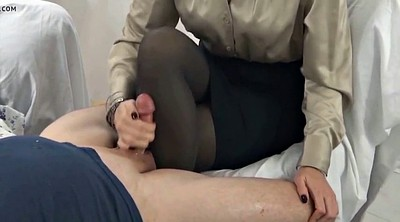 Nylon, Stocking, Nylon handjob