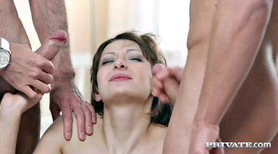 Blindfolded, Threesome anal, Anal cumshot