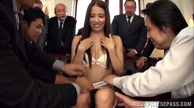Panties, Asian gangbang, Panty blowjob