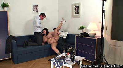 Mature swallow, Two old, Old threesome, Threesome mature