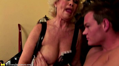 Hairy mature, Seduced, Hairy creampie, Young boys, Granny boy