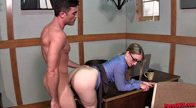 Office creampie, Pantyhose handjob