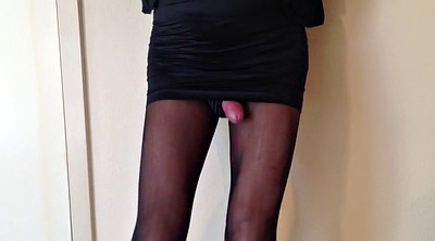 Cum stockings, Leggings, Nylon leg, Shemale small cock, Nylon sex