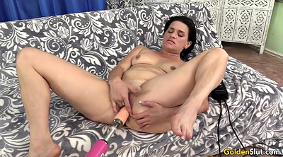 Michelle, Mature orgasm, Mature machine, Granny dildo