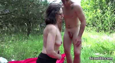 Boy, Teen boy, German granny, Caught by mom