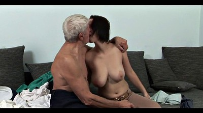 Milf young, Mature kiss
