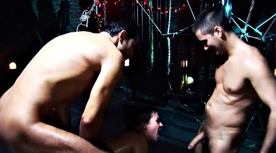 Interracial group, Crew, Interracial gangbang, Anal latex