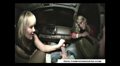 Swinger, Mature handjob, Mature swingers, In the car, Tag