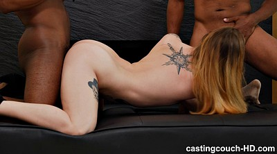 Threesome casting, Two, Skinny casting