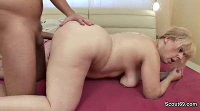 Mom fuck son, Young son, German anal, Wake up, Waking up