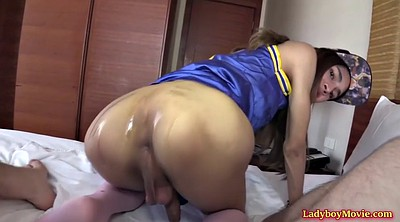 Asian ladyboy, Shemale handjob
