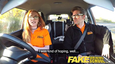 Fake, Nerdy, Hairy creampie, Hairy muff, Driving school