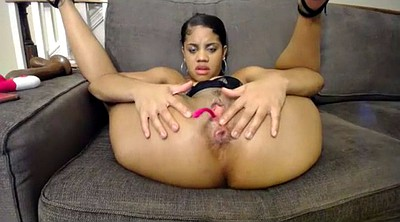 Big ass black, Double pussy, Black solo
