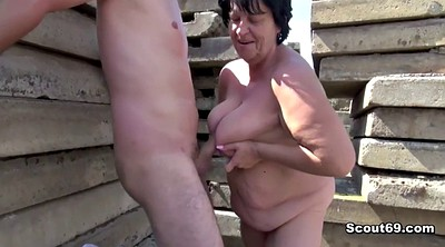 Caught, Old and young, Old mom, Young and old, German bbw, Bbw mom