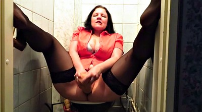 Toilet, Stocking, Mature stockings