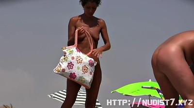 Beach, Nudist, Shy teen, Nudists