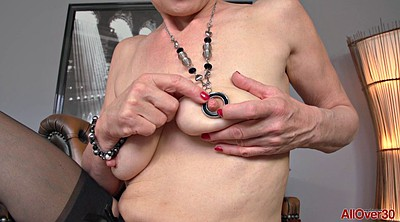 Granny solo, Saggy, Granny sex, Breasts, Mature orgasm, Blonde granny