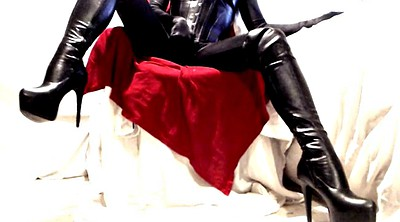 Leather, Boot, Thigh, Pvc