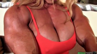 Muscle milf, Big tits, Muscle