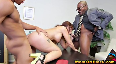 Ebony, Milf interracial