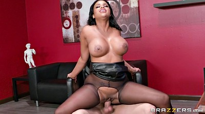 Big cock, Pantyhose office, Big breast