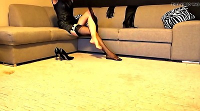 Boots, Pantyhose heels, Leather