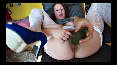 Hairy, Hairy milf masturbation, Cucumber