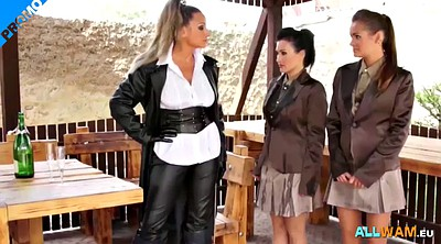 Lesbians, Caught, Lesbian threesome, Spanking girl