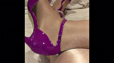 Heels, Tight, Shiny pantyhose
