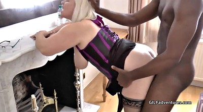 Younger, Granny interracial, Granny big cock